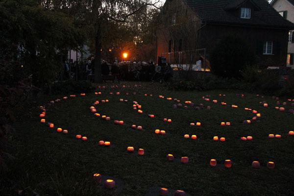 Labyrinth auf dem Friedhof